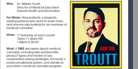 Ask Dr. Troutt Zoom presentation. tickets