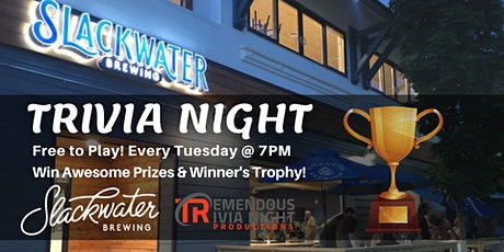Tuesday Night Trivia at Slackwater Brewing, Penticton! tickets