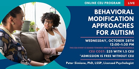 Behavioral Modification Approaches for Autism (CEU) tickets