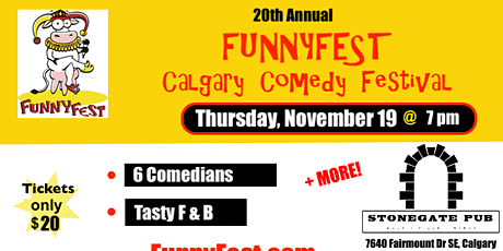 Thursday, November 19 @ 7pm - Festival Favourites - 20th Annual FunnyFest tickets