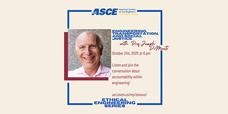 """""""Engineering, Transportation, and Social Justice"""" with Prof. Joseph DiMento tickets"""
