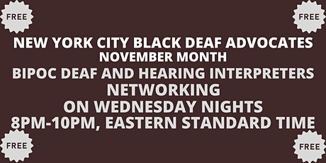 BIPOC DEAF AND HEARING INTERPRETERS tickets