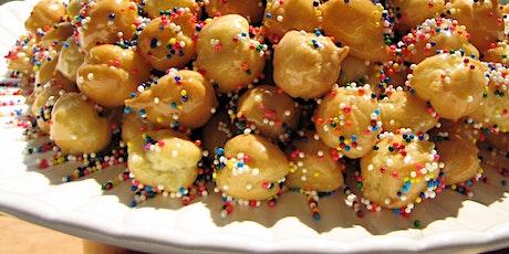 Learn how to make Struffoli (Italian honey balls) & Cannoli  Cookies tickets