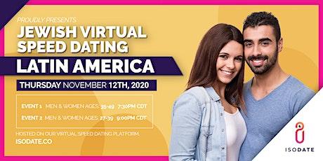 Isodate's Latin America Jewish Virtual Speed Dating tickets