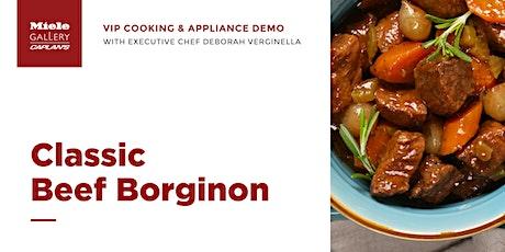 LIVE COOKING DEMO: Classic Beef Borginon