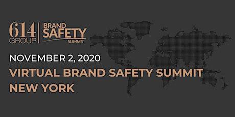 Live Virtual Brand Safety Summit New York tickets