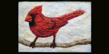 Needle Felt a Cardinal Painting
