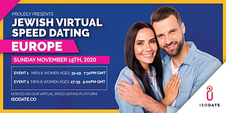 Isodate's European Jewish Virtual Speed Dating tickets