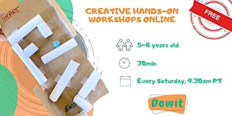 Free Hands-on Workshop Online - Children 5-8 Years Old tickets