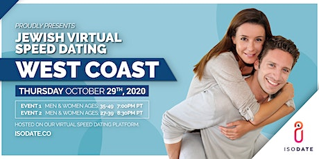 Isodate's West Coast Jewish Virtual Speed Dating tickets
