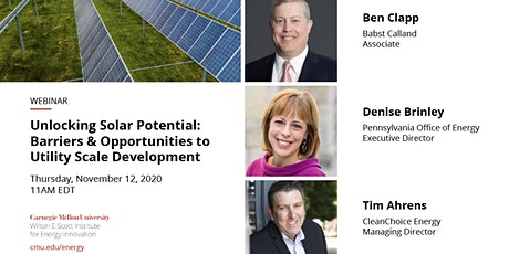 Unlocking Potential: Barriers & Opportunities to Solar Development tickets