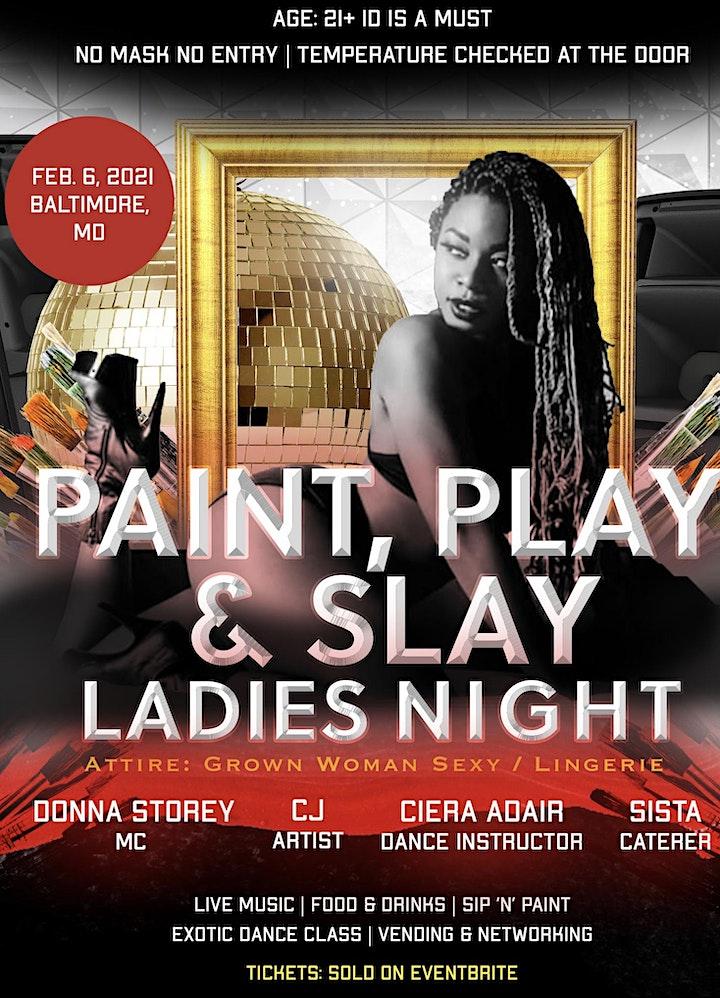 Paint, Play & Slay Ladies Night image