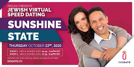 Isodate's Sunshine State Jewish Virtual Speed Dating tickets