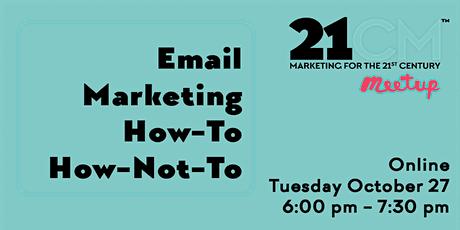 Monterey Digital Marketing Meetup Featuring Email Marketing tickets