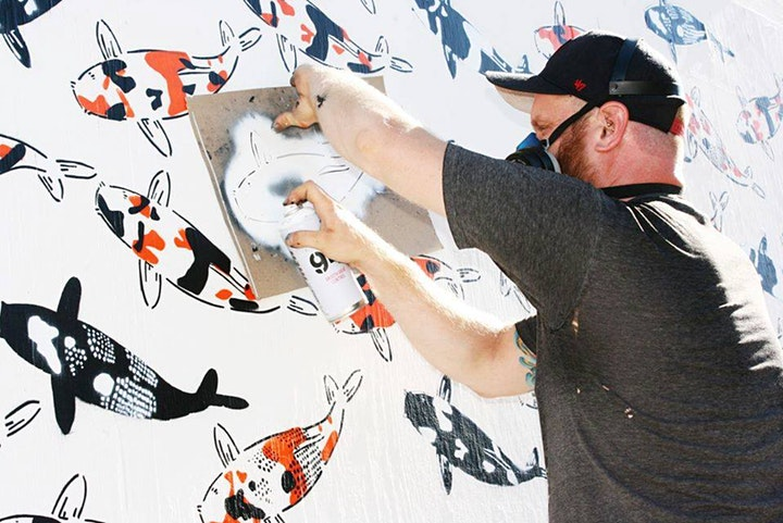 Outdoor Stencil Workshop with Renowned Street Artist Jeremy Novy image