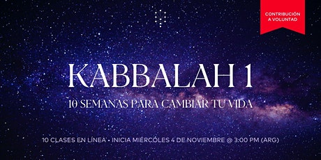 Kabbalah 1 Global | Inicia: 4.Nov.20 | 3.00PM entradas