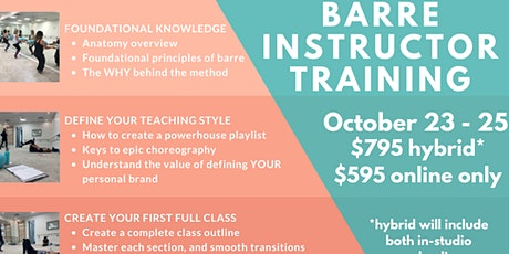 Level 1 Barre Instructor Training tickets