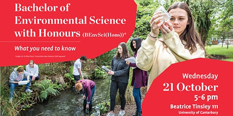 Bachelor of Environmental Science (Hons): What you need to know tickets