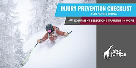 SheJumps Injury Prevention Checklist for Alpine Skiing