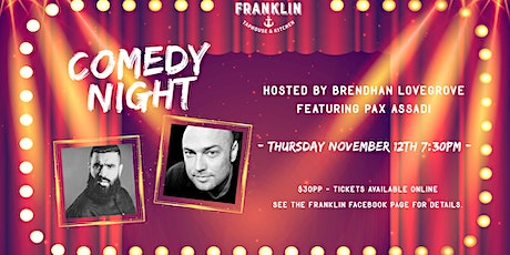 Comedy Night: Pax Assadi & Brendhan Lovegrove tickets