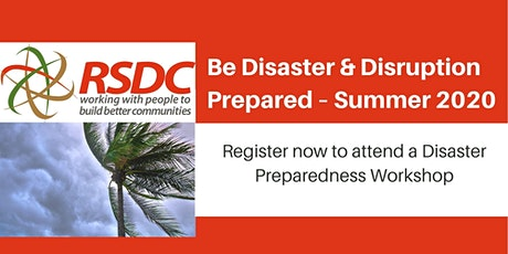 Be Disaster & Disruption Prepared tickets