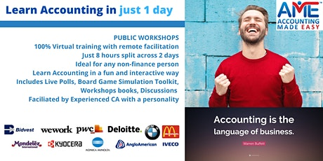 Accounting Made Easy 1 Day Training Program WEEKENDS tickets