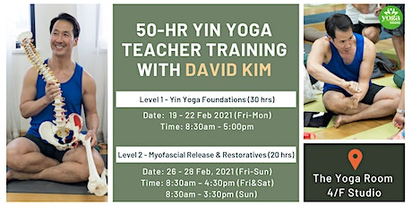 50-hr Yin Yoga Teacher Training with David Kim tickets