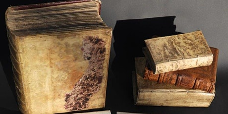 Antique book display- 550 Years of the printed book