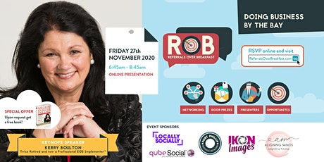 RoB Keynote Speaker: Kerry Boulton - Get Ready for Your Million Dollar Pay
