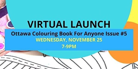 Virtual Book Launch & Fundraiser! #5 Ottawa Colouring Book For Anyone
