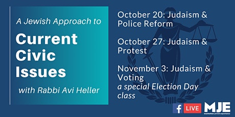 Current Civic Issues OUTDOOR CLASS w/ Rabbi Avi Heller Tues @ 7:00PM tickets