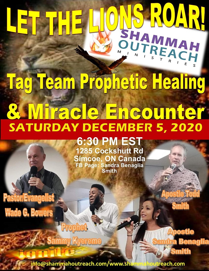 """""""Let the Lions Roar"""" - Tag Team Prophetic Healing and Miracle Encounter image"""