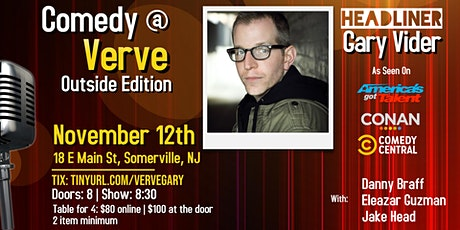 Comedy at Verve: Outside Edition with Gary Vider! tickets