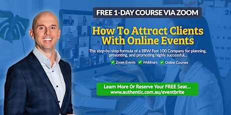How To Attract Clients With Online Events  - Nov 5 tickets