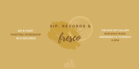 Sip, Records & Fresco   Flora in Fresco Painting Workshop tickets