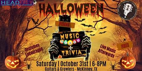 Halloween Music Bingo AND Trivia at Guitars and Growler McKinney tickets