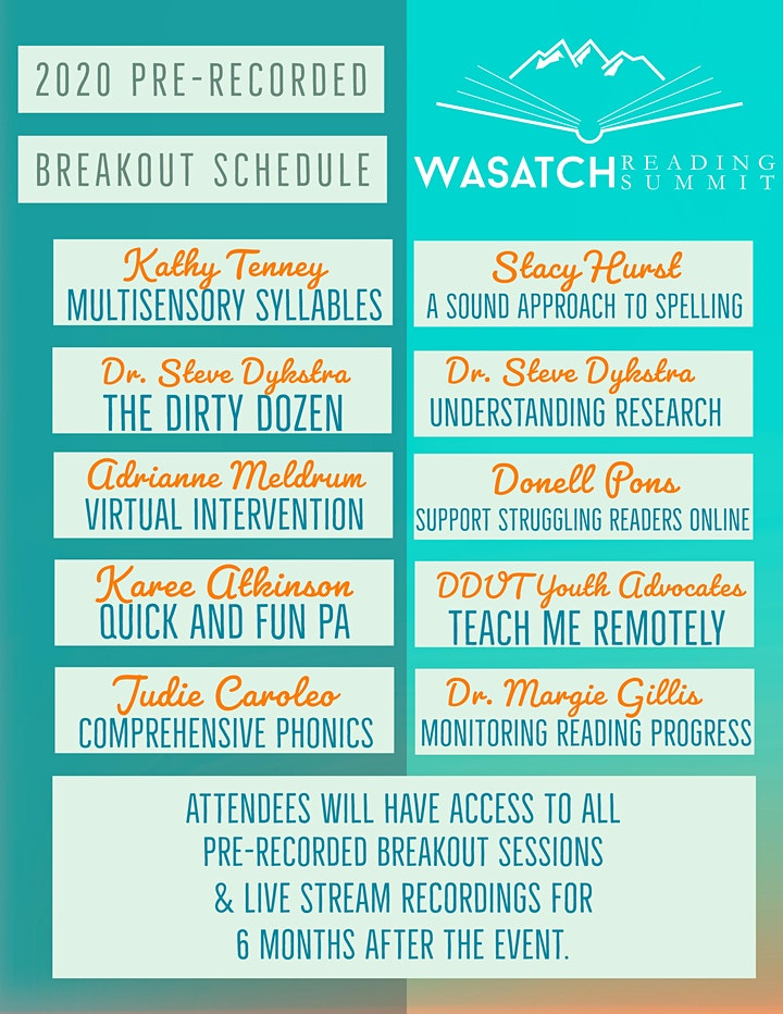 Wasatch Reading Summit 2020 Conference image