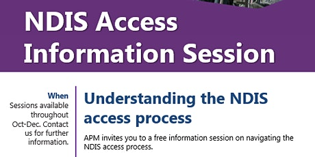 NDIS access process workshop tickets