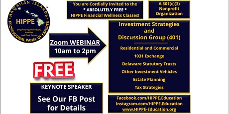 HIPPE 401 Investment Strategies and Discussion Group tickets
