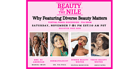 """Why Featuring Diverse Beauty Matters"" Panel - by Beauty Of The Nile tickets"
