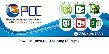 Power BI Desktop Training | Live, Online (3 days) tickets