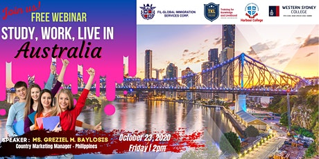 LEARN HOW TO STUDY, WORK & LIVE IN SYDNEY, AUSTRALIA tickets