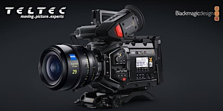 Blackmagic Design URSA Mini Pro 12K Roadshow | Teltec Rhein-Main Tickets