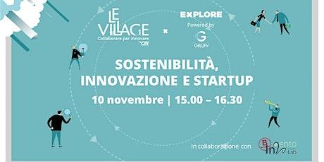 Sostenibilità, innovazione e startup biglietti