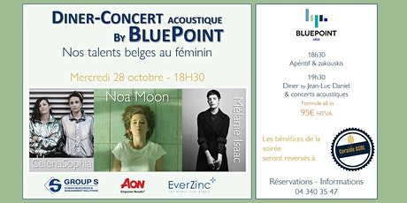 Dîner-Concert acoustique by BluePoint - Nos talents belges au féminin tickets