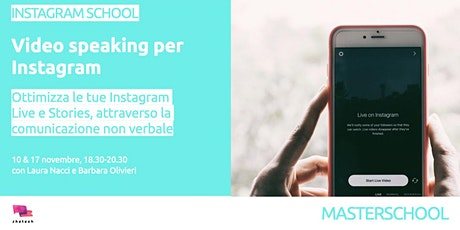 VIDEO SPEAKING PER INSTAGRAM biglietti
