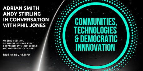 Communities, technologies and democratic innovation tickets