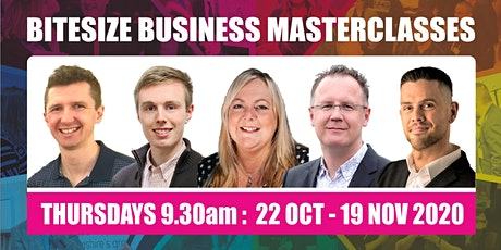 Bitesize Masterclasses: Timehacks, Content, Marketing, Video, Mental Health tickets