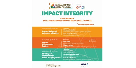 Impact Integrity - SDG Impact standards for Bonds & Equity funds biglietti