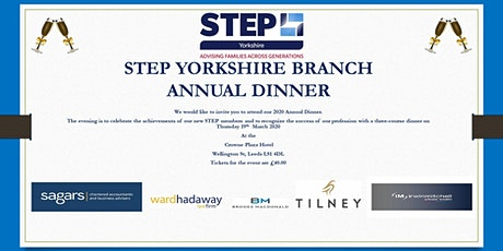 Copy of Step Yorkshire Branch  Annual Dinner tickets